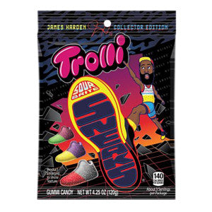 Trolli Sour Brite James Harden Sneaks 4.25 Oz Peg Bag 12Ct Case