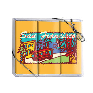 Amusemints San Francisco Milk Chocolate 3 Bars Box 5.25 Oz *Sf Dc Only* 24Ct Case