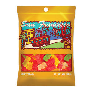 Amusemints San Francisco Gummy Bears 5 Oz Peg Bag *Sf Dc Only* 24Ct Case