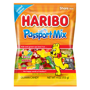 Haribo Passport Mix 4 Oz Bag 12Ct Case