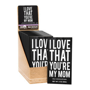 Amusemints I Love You'Re My Mom 3 Oz Milk Chocolate Bar 20Ct Case