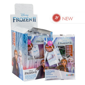 Disney Frozen 2 Secret Bag With Stickers, Cards, Lollipop & Poster 0.25 Oz 24Ct Case