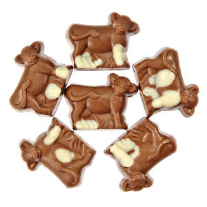 Mark Avenue Milk Chocolate Peanut Butter Minuette Cow 7.00Lb Box
