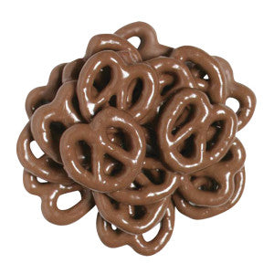 Nassau Candy Mini Chocolatey Coated Pretzels 15.00Lb Case