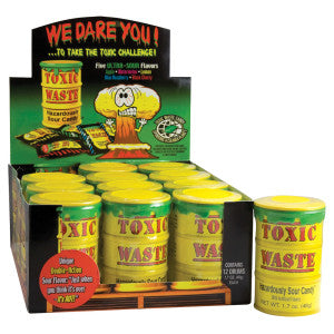 Toxic Waste Sour Candy Drums 1.7 Oz 12Ct Box