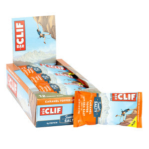 Clif Bar Sweet & Salty Caramel Toffee With Sea Salt 2.4 Oz 12Ct Box