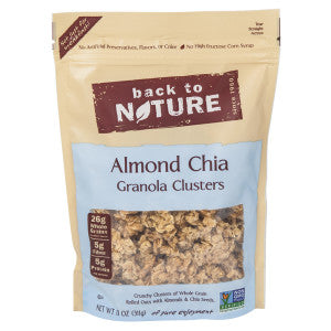 Back To Nature Almond Chia Granola Clusters 11 Oz Pouch 6Ct Case