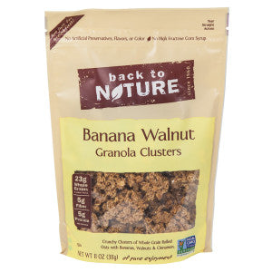 Back To Nature Banana Walnut Granola Clusters 11 Oz Pouch 6Ct Case