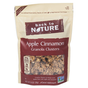 Back To Nature Apple Cinnamon Granola Clusters 11 Oz Pouch 6Ct Case