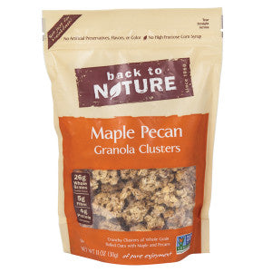 Back To Nature Maple Pecan Granola Clusters 11 Oz Pouch 6Ct Case