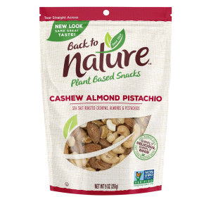 Back To Nature Cashew Almond Pistachio Nut Blend 9 Oz Pouch 9Ct Case