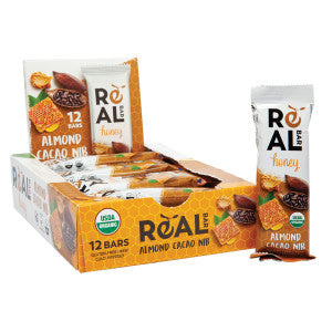 Organic Realbar Honey Almond Cacao 1.76 Oz 12Ct Box