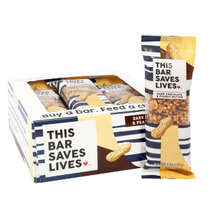 This Bar Saves Lives Dark Chocolate Peanut Butter 1.4 Oz 12Ct Box
