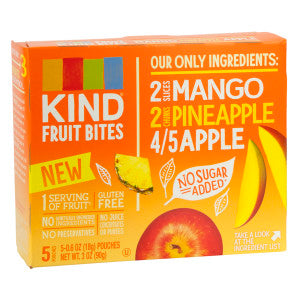 Kind Mango Pineapple Fruit Bites 5 Pc 3 Oz Box 8Ct Case
