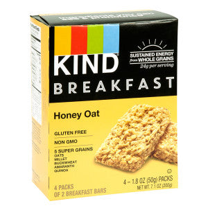 Kind Honey Oat Breakfast Bar 4 Pc 7.1 Oz Box 8Ct Case