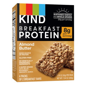 Kind - Breakfast Bar - Prtein Almond Buttr(4Ct) - 7.04Oz 8Ct Case