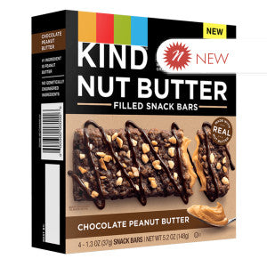 Kind - Nut Butter Filld Bar Chocolate Peanut Butter (4Ct) - 5.2Oz 8Ct Case