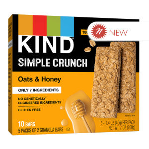 Kind - Simple Crunch - Oats & Honey (5Ct) - 7Oz 8Ct Case