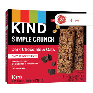 Kind - Simple Crunch - Oats & Dark Chocolate (5Ct) - 7Oz 8Ct Case