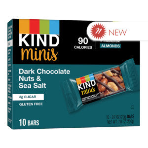Kind - Miniature - Dark Chocolate Nuts & Seasalt(10Ct) - 7Oz 8Ct Case