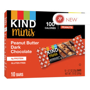 Kind - Miniature - Peanut Butter Dark Chocolate (10Ct) - 7Oz 8Ct Case