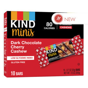 Kind - Miniature - Dark Chocolate Cherry Chrry Cshew(10Ct) - 7Oz 8Ct Case