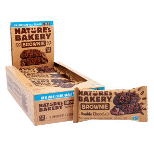 Nature'S Bakery Brownie Double Chocolate 2 Oz Bar 12Ct Box