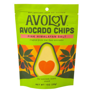 Avolov Pink Himalayan Salt Avocado Chips 1 Oz Peg Bag 12Ct Case