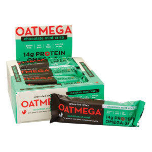 Oatmega Chocolate Mint Crisp Bar 1.8 Oz 12Ct Box