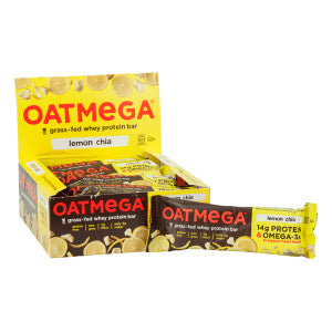Oatmega Lemon Chia Crisp Bar 1.8 Oz 12Ct Box