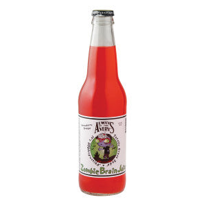 Avery'S Zombie Brain Juice Strawberry Orange Soda 12 Oz Bottle 24Ct Case