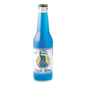 Avery'S Toxic Slime Blue Raspberry Orange Soda 12 Oz Bottle 24Ct Case