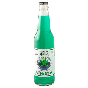 Avery'S Alien Snot Kiwi Blue Raspberry Soda 12 Oz Bottle 24Ct Case