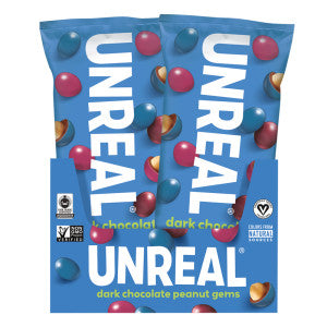 Unreal Dark Chocolate Peanut Gems 1.3 Oz 12Ct Box