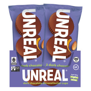 Unreal Dark Chocolate Almond Butter Cup 1.3 Oz 12Ct Box