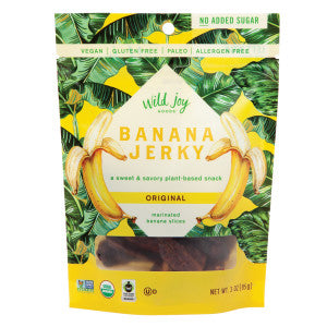 Wild Joy Original Banana Jerky 3 Oz Peg Bag 12Ct Case