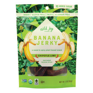 Wild Joy Chipotle Lime Banana Jerky 3 Oz Peg Bag 12Ct Case