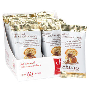 Chuao Mini Dark Chocolate Salted Chocolate Crunch 0.39 Oz Bar 24Ct Box