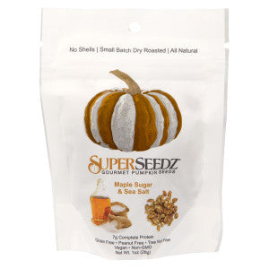 Superseedz Maple Sugar & Sea Salt Pumpkin Seeds 1 Oz Bag 12Ct Case