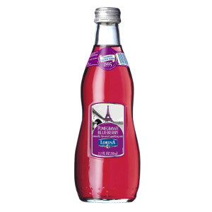 Lorina Pomegranate Blueberry Naturally Flavored Sparkling Soda 11.1 Oz Bottle 12Ct Case