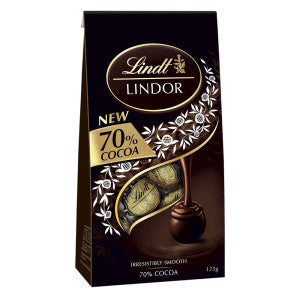 Lindt Lindor 70% Dark Chocolate Truffles 5.1 Oz Bag 6Ct Case