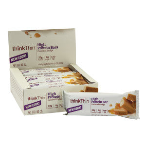 Think Thin Caramel Fudge Protein Bar 2.1 Oz 10Ct Box