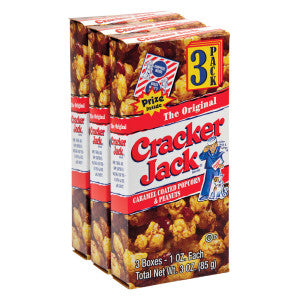 Cracker Jack Original Triples 3 Oz Box 24Ct Case