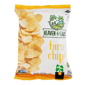 Heaven & Earth Taro Chips 1 Oz Bag 36Ct Case