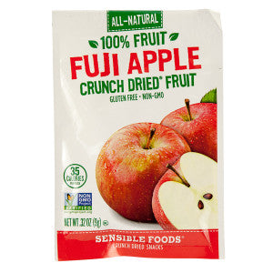 Sensible Foods Fuji Apple Crunch Dried Fruit 0.32 Oz Bag 12Ct Box