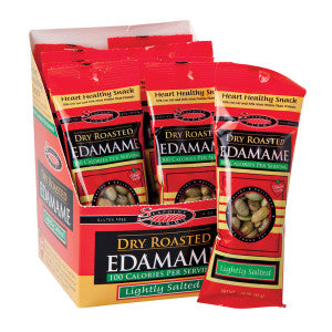 Seapoint Farms 100 Calorie Lightly Salted Dry Roasted Edamame 1.58 Oz Bag 12Ct Box