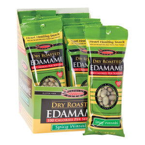 Seapoint Farms 100 Calorie Wasabi Dry Roasted Edamame 1.58 Oz Bag 12Ct Box