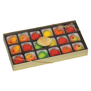 Bergen Marzipan Assorted Fruit 8 Oz Box 24Ct Case