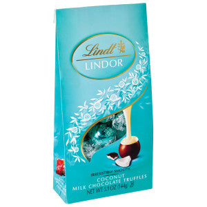 Lindt Lindor Milk Chocolate Coconut Truffles 5.1 Oz Bag 6Ct Case