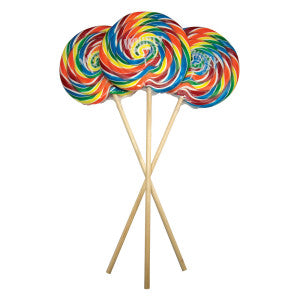 Whirly Pop Rainbow Colors 6.5 Inch 10 Oz 18Ct Case